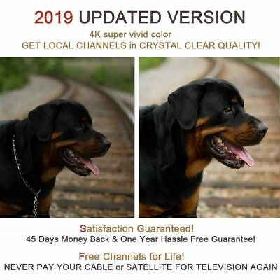2019 Newest Hdtv Antenna Best 980 Mile Long Range Lesoom Indoor Tv Digital Hq 4K 8