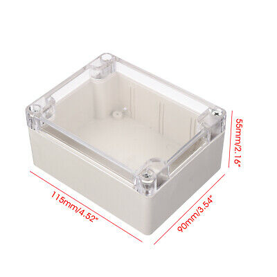 158x90x65mm Clear Waterproof Plastic Electronic Project Box Enclosure  Case   CW