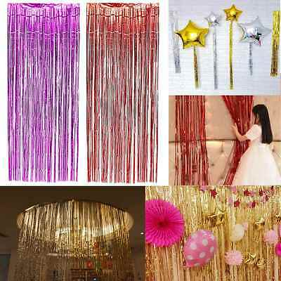4 of 6 Curtain Party Decoration Window Tinsel Foil Fringe Door Wedding Birthday Shimmer & CURTAIN PARTY Decoration Window Tinsel Foil Fringe Door Wedding ...
