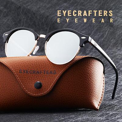 Fashion Vintage UV400 Outdoor Shades Women Mens Retro Round Polarized Sunglasses 7