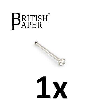 Uk Silver Nose Stud Straight I L Screw Shape Surgical Steel Pin Set Bar Piercing 9