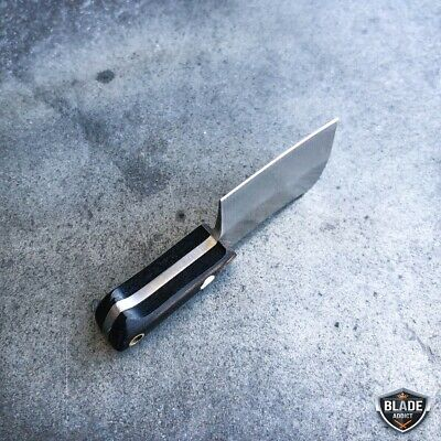 WORLDS SMALLEST WORKING FIXED BLADE KNIFE! Tiny Miniature CLEAVER Pocket Knife 6