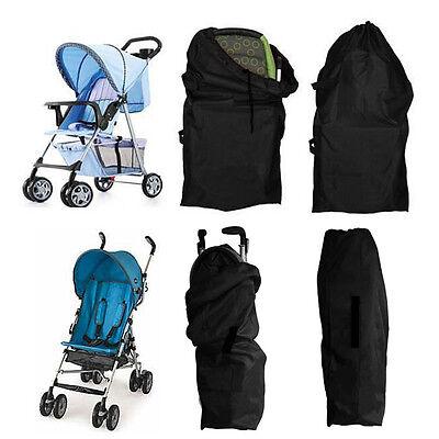 UK Pram Gate Check Travel Bag Umbrella Stroller Pushchair Buggy Waterproof Cover