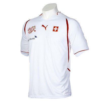c1657c623 ... nwt~Puma SWITZERLAND Football Soccer Shirt Jersey Suisse World Cup top~ Mens sz M