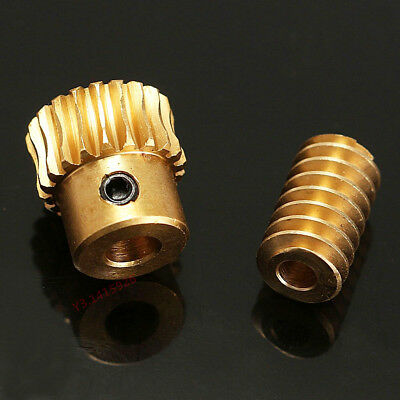 0.5 Modulus 1:10 Reduction Ratio 20Tooth Gear Motor Brass Copper Worm Wheel Gear 4