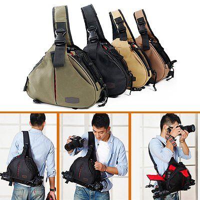 New Canon Nikon Sony Camera Backpack Sling Shoulder Bag Case Shockproof DSLR SLR 2
