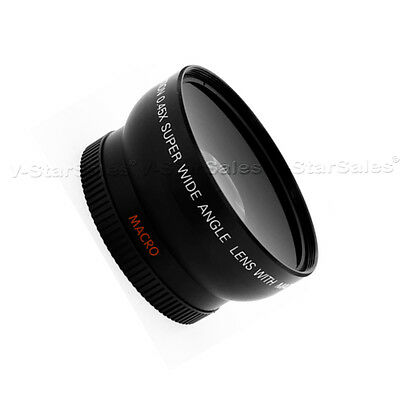 52MM 0.45x Wide Angle Macro Lens for Nikon D3200 D3100 D3000 D5200 D5100 D5300 3