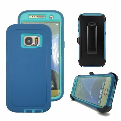 Case Cover Defender For Samsung Galaxy S7 Edge (Belt Clip Fits Otterbox) USA NEW 7