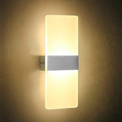 Modern 6w Led Indoor Wall Lights Sconce Lamp Light Ings Corridor Bedroom Uk