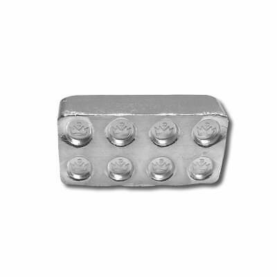 3 - 1 oz. 999 Fine Silver Building Block Bars - Connect Multiple Blocks Together 3