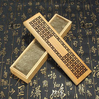 Ancien Bamboo Incense Stick Holder Burning Joss Insence Box Insense Burner Decor
