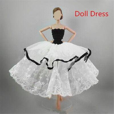 Handmade Royalty Princess Dress/Wedding Clothes/Gown + veil for Barbie Doll 12