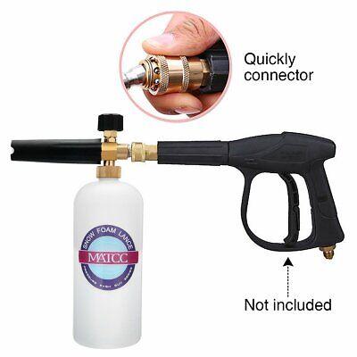 MATCC Snow Foam Cannon Adjustable Pressure Washer Foam Wash Gun 1L Bottle Car Wa 7