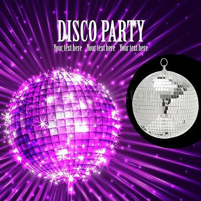 Mirror Glass Ball Disco DJ Stage Lighting Effect Party Home Decor Xmas 4-10cm 4