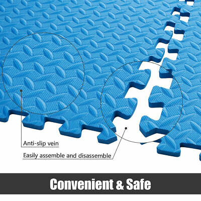 Extra Thick Gym Flooring Interlocking Floor Mats EVA Soft Foam Mat Yoga Tiles 6