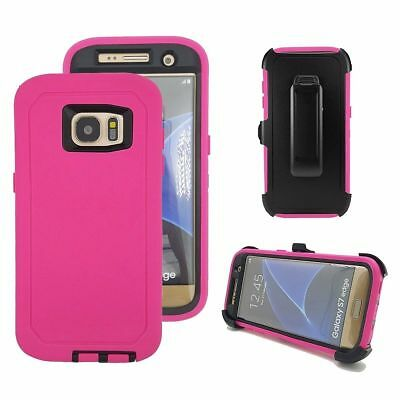 Case Cover Defender For Samsung Galaxy S7 Edge (Belt Clip Fits Otterbox) USA NEW 4