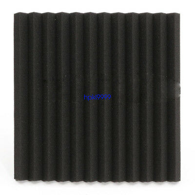 "96 Pack Acoustic Foam Panel Wedge Studio Soundproofing Wall Tiles 12"" X 12"" X 1"" 6"