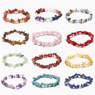 Charme Reiki Guérison Bracelets Pierre Cristal Puce Perlé Bracelet Cadeau 3