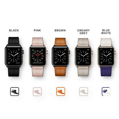 【Genuine Leather】Apple Watch Band Strap for iWatch Series 5 4 3 2 1 38 42 40 44m 3