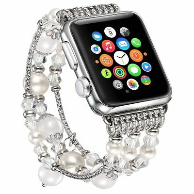 For Apple Watch Series 5 4 44MM Bling Agate Beads Strap Bracelet Band iWatch 2 3 6