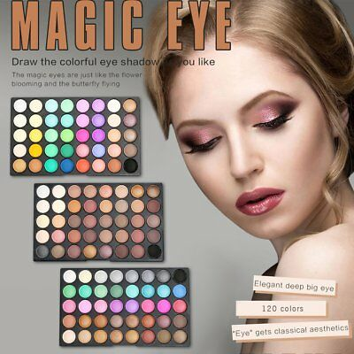 120 Colors Earth Cosmetic Powder Makeup Naked Matte Shimmer Eye Shadow Palette 6