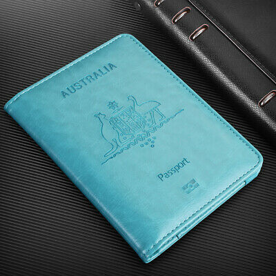 Travel Passport ID Card Wallet Holder Cover RFID Blocking Leather Purse Case AU 8