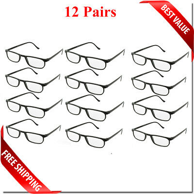 Reading Glasses Lens 2,4,8,12 Pack Lot Classic Reader Unisex Men Women Style Lot 4