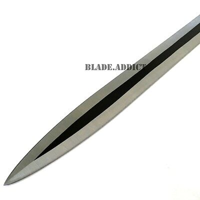 "28"" RED NINJA SWORD Full Tang Machete Tactical Blade Katana 2PCS Throwing Knife 3"