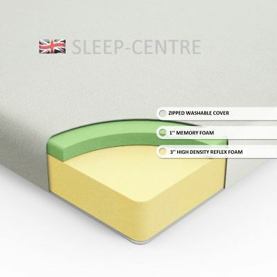 Lavish New 3Ft Single Visco Memory Foam Mattress With Washable Cooltouch Cover 5