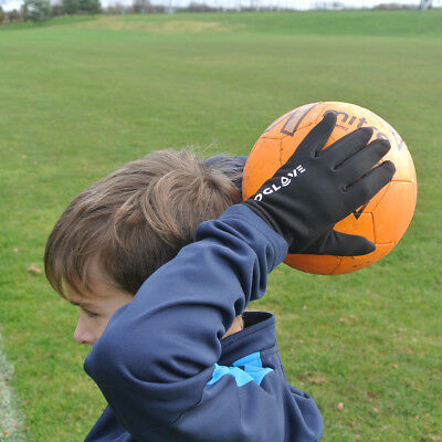 Football Field Player Gloves Waterproof Thermal Grip Boys Kids Junior 4