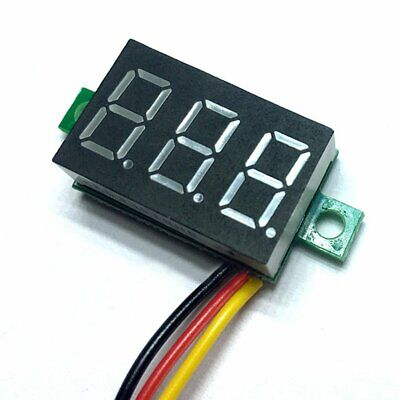 DC 0-100V Wires LED 3-Digital Mini Voltmeter Meter Display Voltage Panel Test 5