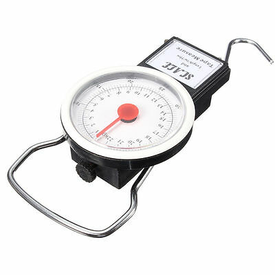Portable Luggage Travel Scale Hanging Suitcase Hook 75 lb w/Measuring Tape