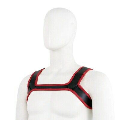 Red Rubber Chest Harness - Gay, Fetish, Bondage *FREE SHIPPING WORLDWIDE* 4