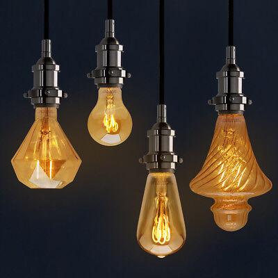 Vintage LED 2W Edison Style Filament Light Bulb B22 or E27 Twister ST58 A60 G95 9