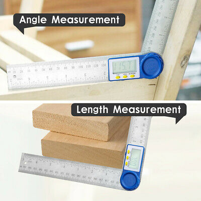 """2in1 Digital Protractor Angle Finder Ruler Crown Trim 7/"""" BE Woodworking 200 N6A6"""