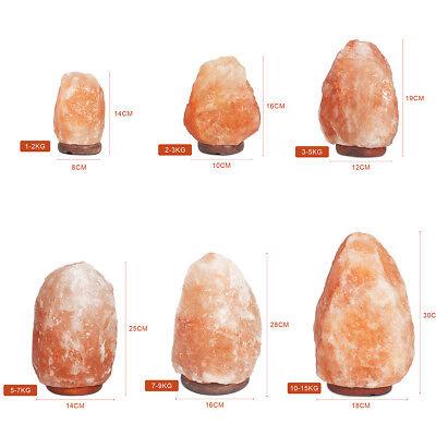 HIMALAYAN SALT LAMP Natural Pink Crystal Rock Dimmer Switch Night Light 1-15 KG 5