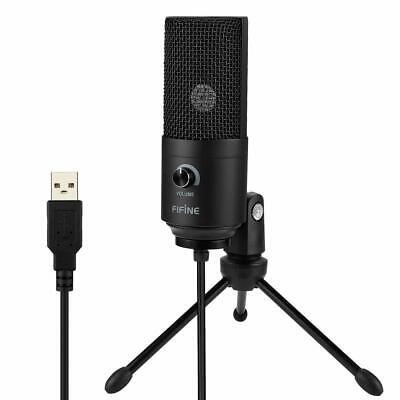 USB-Mikrofon Metall Kondensatormikrofon für PC/Laptop Aufnahmemikrofon Kardioid 4