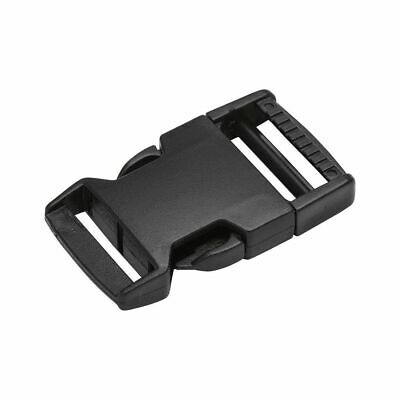 Black Side Release Plastic Buckles Clips For Webbing Bags Straps 10mm to 50mm 7