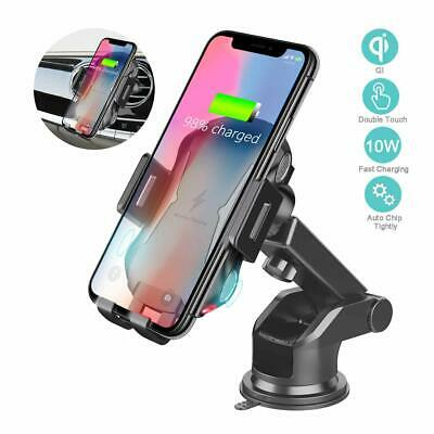 Automatic Clamping Qi Wireless Car Charging Charger Mount Air Vent Phone Holder 8