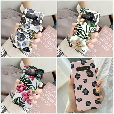 For Samsung Galaxy Note 10 Plus S10 Plus S10e Flower Clear Silicone Case Cover 2