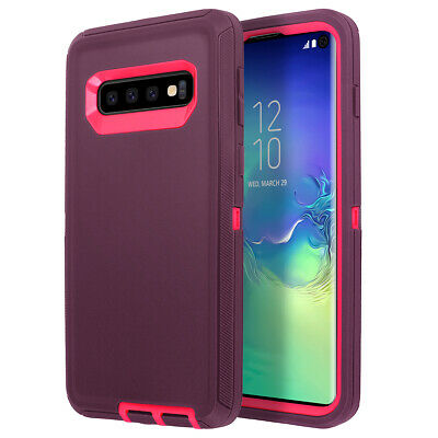 Samsung Galaxy S10+ S9 Note 8 9 Case Shockproof Hybrid Rubber Armor Rugged Cover 2