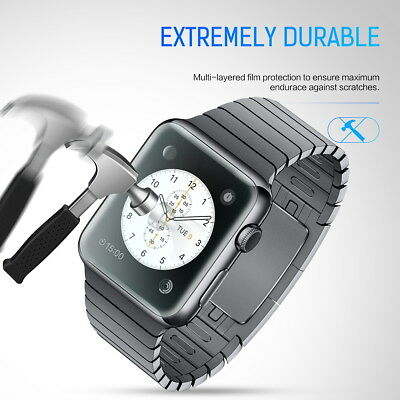 MaxShield Screen Protector for Apple Watch Series 2/3/4/5 38/42mm 40/44mm iWatch 8