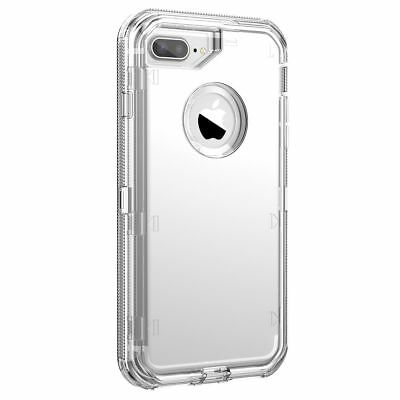 Fit Apple iPhone Clear Transparent Shockproof Protective Armor Heavy Duty Case 7