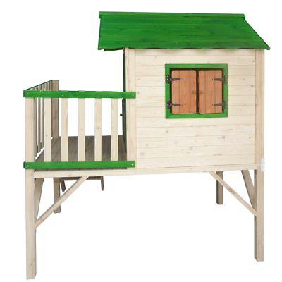 brast spielhaus f r kinder mit balkon stelzenhaus garten baum turm holzhaus eur 399 00. Black Bedroom Furniture Sets. Home Design Ideas