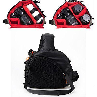 New Canon Nikon Sony Camera Backpack Sling Shoulder Bag Case Shockproof DSLR SLR 9