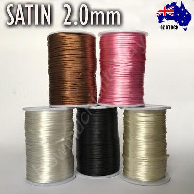 2mm Satin Rattail Cord Shamballa Nylon Macrame Kumihimo String 2