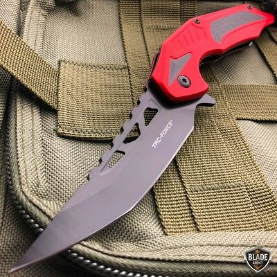 "8.25"" Tac-Force Spring Assisted Open Combat Tactical Folding Open Pocket Knife 6"