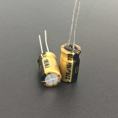 20pcs For Nichicon FW 220uF//16V 6.3x11mm Audio Electrolytic Capacitor 6118