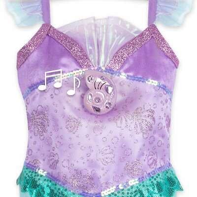 NWT Disney store Ariel Costume Dress Gown Singing Girls The Little Mermaid