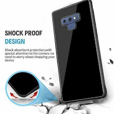 Samsung Galaxy S10 S9 Plus S10e Note 9 Case Slim Bumper Cover Tempered Glass 9